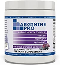 L-arginine Pro, L-arginine Supplement - 5,500mg of L-arginine Plus 1,100mg L-Citrulline (Berry, 1 Jar)