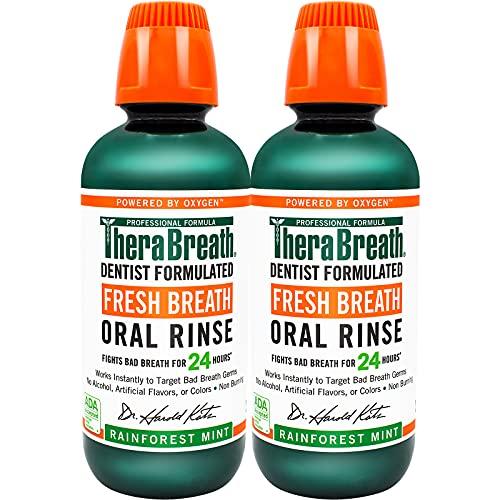 TheraBreath Fresh Breath Dentist Formulated 24-Hour Oral Rinse,...