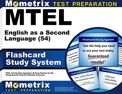 Mtel English As A Second Language 54 Flashcard Study System Mtel Test Practice Questions Exam Review For