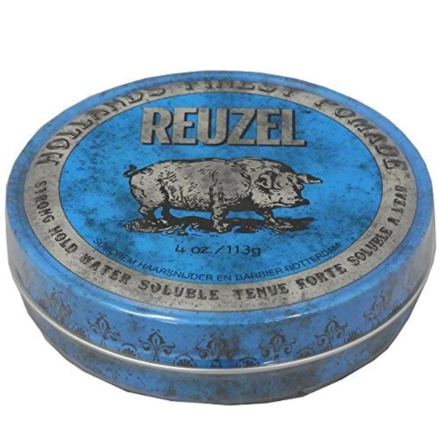 ハーブそれにもかかわらず美容師ルーゾー REUZEL STRONG HOLD HIGH SHEEN ストロングホールド ブルー 113g