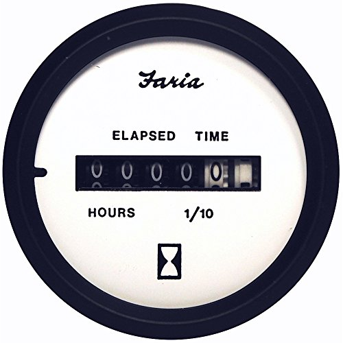 Find Cheap Faria Euro White 2 Hourmeter (10,000 Hrs) (12-32 VDC)