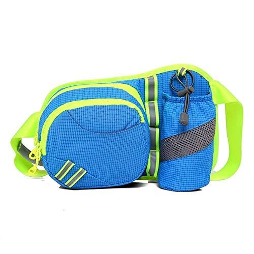JOLLY Marsupio for le donne uomini, Packs autotelaio con Telefono Porta Bottiglia regolabile cintura, for l'allenamento di viaggio Escursionismo, Portare telefono Denaro, multi colori nero, blu e Altr