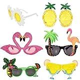 Accesorios para cócteles Gafas de sol divertidas Gafas de sol novedosas Adultos Niños Paquete de 6 para cumpleaños Favores Playa Piscina Actividad de verano al aire libre