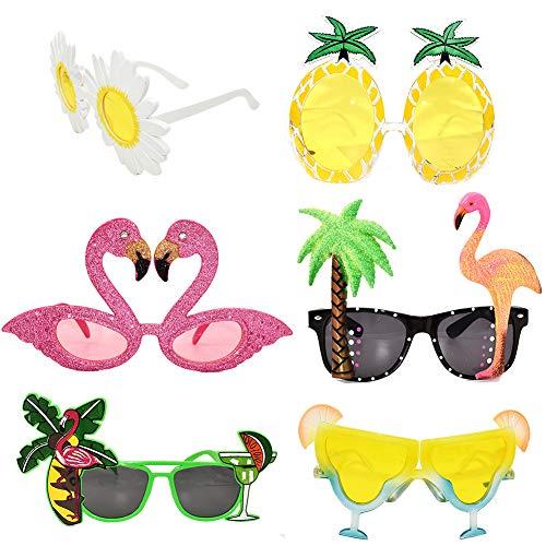 Accessori per cocktail party Occhiali da sole divertenti Novità Occhiali da sole Adulti Bambini Confezione da 6 per compleanni Bomboniere Beach Pool Outdoor Summer Activity Costume