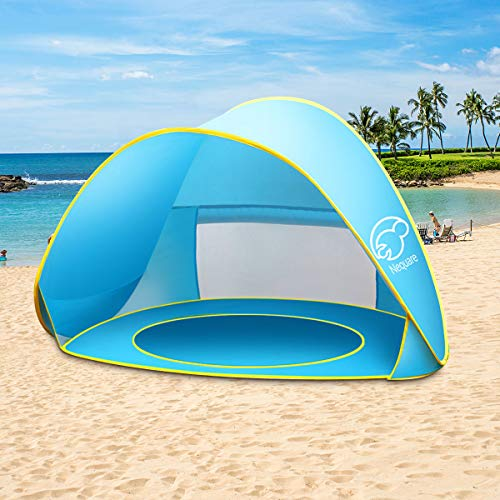 NEQUARE Baby Beach Tent Pop Up Tent Baby Beach Pool Sun Shelter UV Protection Beach Shade for Baby and Family(Blue)