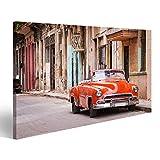 islandburner, Cuadro Cuadros Coche clásico Americano de época en una Calle de La Habana Vieja Cuba Impresión Lienzo Formato Grande Cuadros Modernos THS