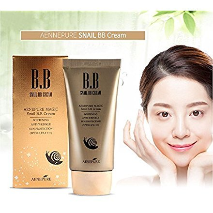 [Aenepure] Snail BB cream SPF50+, PA +++ / Whitening, Anti-Wrinkle, Sun protection/Korean Cosmetics