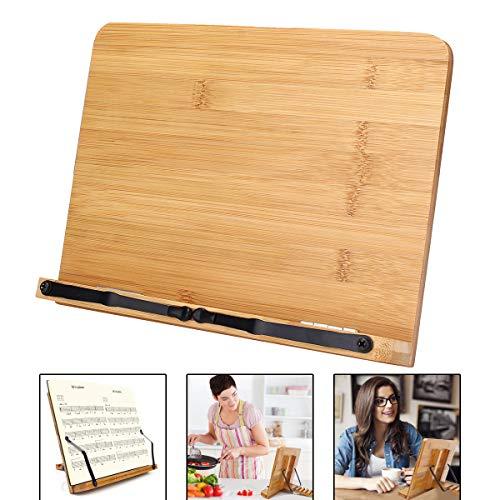 MJJEsports Draagbare Houten Boekenplank Stand Bijbel Kookboek Muziek Boek laptop Houder Vouwrek Lezen Tool