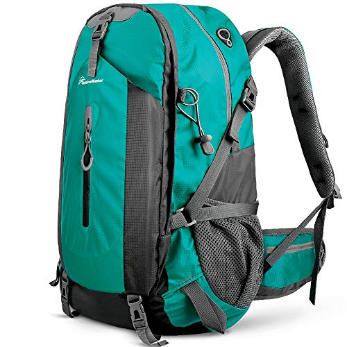 OutdoorMaster Hiking Backpack 50L - Hiking & Travel Backpack w/Waterproof Rain Cover & Laptop Compartment - for Hiking, Traveling & Camping - Light Green