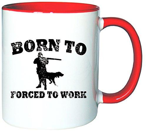 Mister Merchandise Pote del café Taza Born to Hunt Forced