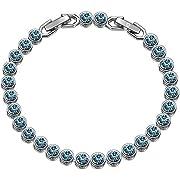 Susan Y Tennis Armband Frauen schmuck Damen schmuckkästchen Geschenke für Frauen Mama personalisierte Geschenke freundschaftsarmband Frauen(Aquamarin)