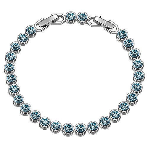 Susan Y Mothers Day Bracelets Womens Crystal Bracelet Jewellery for Women Gifts for Women Gifts for her Gifts for Mum Anniversary Wedding Birthday Gifts (Aquamarine)