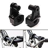 Triclicks 2X Abrazadera Universal 22/28 mm del Manillar de la Motocicleta, Soporte Elevador para Manillar, Eelevación del Manillar, Adaptador de Instalación