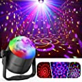 Party Lights, Gvoo Sound Activated DJ Disco Lights Rotating Ball Lights 5W 7 Modes RGB LED Stage Lights with Remote Control for Home Outdoor Holidays Dance Parties Birthday