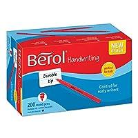 (200 Count, Round Barrels, Washable Blue Ink) - Berol Handwriting Pens, Round Shape, Washable Blue Ink, Bright Barrels, Class Pack of 200