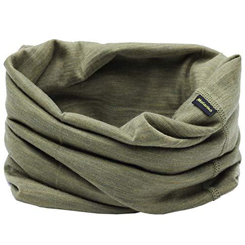 Lightweight 100% Merino Wool Neck Gaiters,Multifunctional Neck Warmer for Dust & UV Protection,Soft Wool Gaiter(Green Neck Warmer))