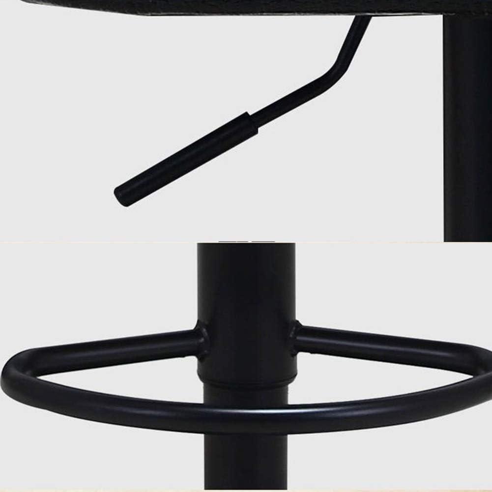 WY Tabouret Cuisine Accoudoirs Pub Effet cuir noir Siège Degree Mécanisme pivotant Apparence moderne Président de la Conférence Pu + éponge + métal (Color : T2) T2