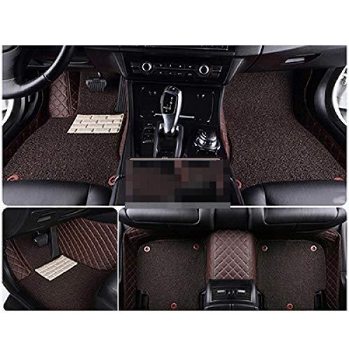 QWERQF Auto Fußmatten Auto Styling Auto Zubehör Auto Aufkleber Teppich Benutzerdefinierte Fußmatten 3D Auto Teppich,Für Hummer H2 H3 Kaffee