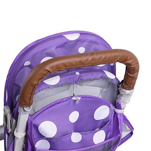HENGSONG Kinderwagen Buggy Zubehör Griffbezug Handgriffe Kinderwagengriffbezug Griff (Braun)