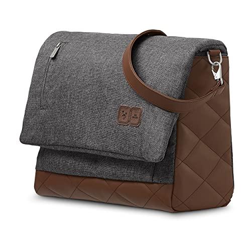 ABC Design Wickeltasche Urban - Crossbody Bag mit Baby Zubehör – Messenger Bag - großes Hauptfach - breiten Schultergurt - Polyester - Farbe: asphalt