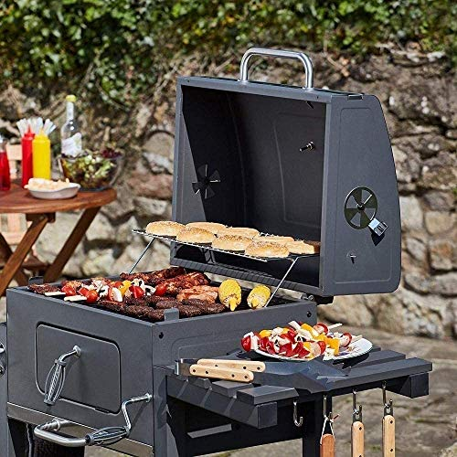 51r3kVLmOLL - HIZLJJ Feuerstellen, Holzkohlegrill Grillen im Freien, Camping, Tailgating Charcoal Rack-Grill inklusive Faltbare Edelstahl-Grill-Tools Barbecue Grill Regal