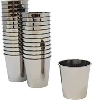 Just Artifacts 1oz Plastic Shot Glasses 120pcs Solid Metallic Dark Silver
