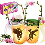 Alritz Fairy Lantern Craft Kit for Kids - Gift for Girls Ages 4-12 - Flicking Candle Night Lights Craft Projects Party Centerpiece Birthday