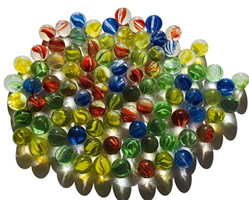 Rhinestone Paradise 95 Stück bunt grün rot blau klare Murmeln Mischung Murmel Glaskugeln Dekokugeln 16mm klar durchsichtig blau rot gelb Glas deko Glas Kugel Murmeln aus Glas