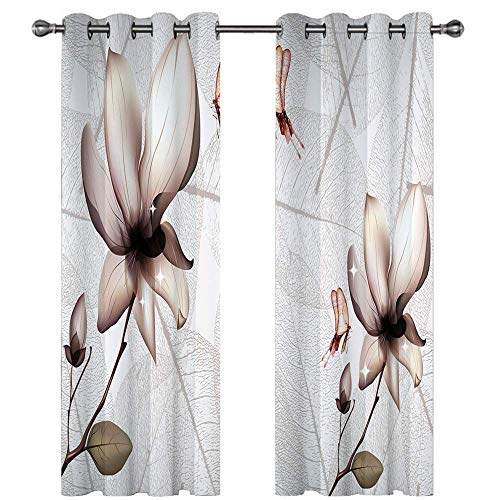 Michance 3D Kitchen Printing Curtains Curtains That Effectively Protect Personal Privacy Suitable For Curtains Of Bedroom, Balcony And Living Room 2 Pieces