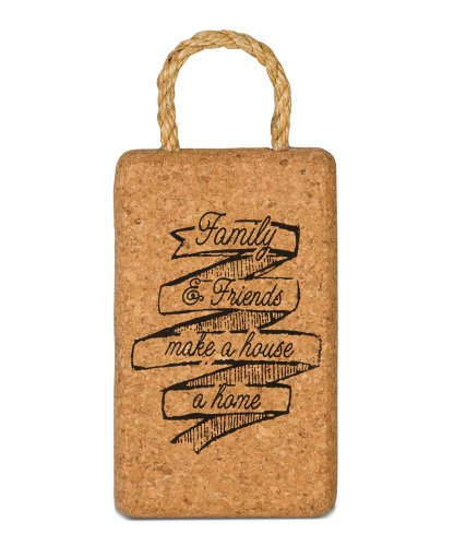 Wine All The Time Family and Friends Cork Trivet, Multicolored