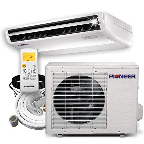 Pioneer Aire acondicionado para piso/techo/pared baja, dividido inversor con bomba de calor, en Miniatura, 18,000 BTU, 208-230 V, 1