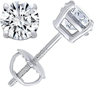 screw on diamond earrings