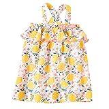 Mud Pie Baby Girls' Lemon Floral Toddler Dress, Multi, 5T