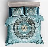 AYMAYO Juego de ropa de cama de moda, pintura abstracta, juego de 3 piezas, funda nórdica de 135 x 200 cm, funda de almohada de 50 x 75 cm (ancho 135 x 200 cm)