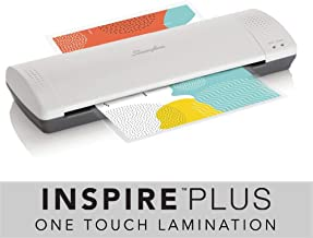 Swingline Laminator, Thermal, Inspire Plus Lamination Machine, 12 inches Max Width, Quick Warm-up, Includes Laminating Pouches, White / Gray (1701867)