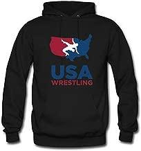 Custom Unisex Youth USA Wrestling Hoodie Men's and Women's Hoodie US M Black