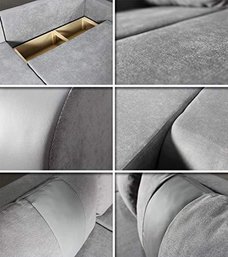Ecksofa Couch –  günstig  Rino  Schlaffunktion Bild 5*