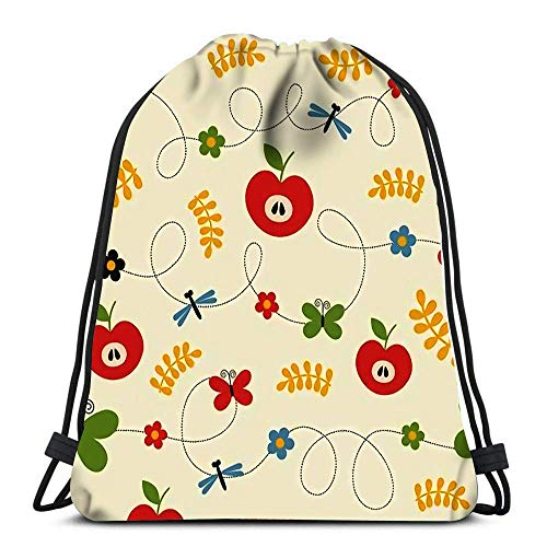 Lmtt Drawstring Bags Backpack Childlike Travel Backpacks Tote School Rucksack