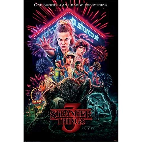 Pyramid Stranger Things Summer of 85 Poster, Unlaminierten, 61 x 91.5cm
