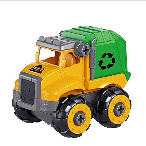 Take Apart Toys Car Push and Go Friction Inercial Engineering Car Dump Truck Toy Montar Mini vehículos de construcción Juguetes con Destornillador para niños pequeños al Aire Libre Regalo de 3 años