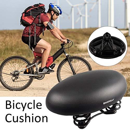 Fahrradsattel, Ergonomisch Runder Fahrradsitz Breiter Tourensattel, Wasserdichter und Atmungsaktiver MTB Sattel Herren Damen für Mountainbikes, Rennräder und Trekkingräder Schwarz