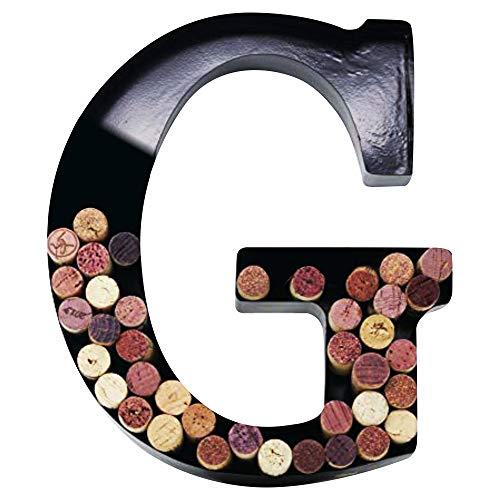 Metal Wine Cork Holder Monogram Decorative Wall Letter (G)