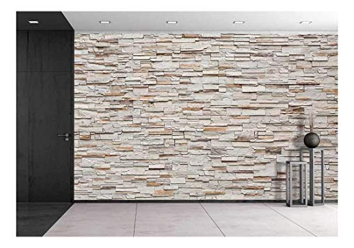 wall26 Pattern of Decorative Stone Wall Background - Removable Wall Mural   Self-Adhesive Large Wallpaper - 66x96 inches
