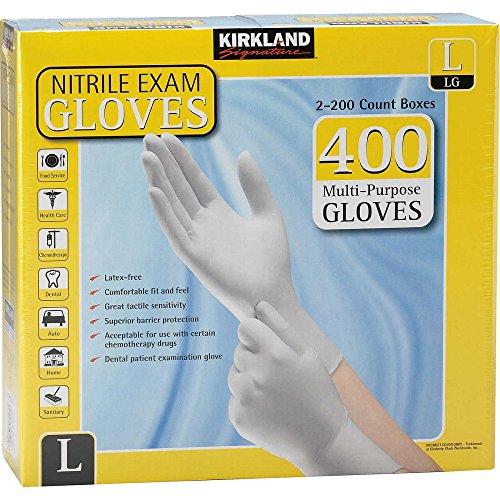 Kirkland Signature Nitrile Exam Gloves, Size Large 200-Count (2-Pack)