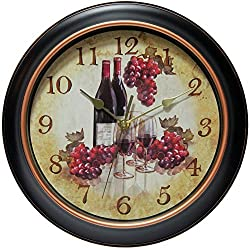 """Infinity Instruments Pinot 11-3/4"""" inch Silent Sweep Wall Clock"""