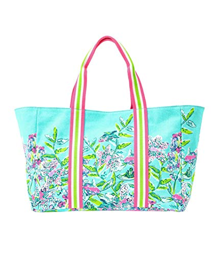 Lilly Pulitzer - Lilly's Lagoon Canvas Tote (Bali Blue Sway this Way)