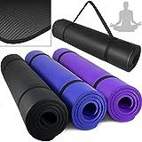 Gymnastikball - Yogamatte Gymnastikmatte Pilates 180 x 80 x 1,5 cm extra dick Blau