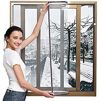 Magnetic Window Insulation Kit - Heavy Duty Window Insulation Film with Full Frame Magnetic Strip Size Up to 72 x 48  Max Warm in Winter and Cool in Summer