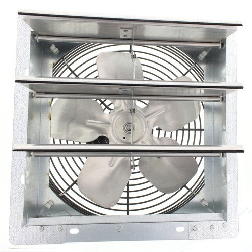 Fantech 2SHE0721 Axial Wall Shutter Fan, Direct Drive, 1/30 hp, 115V, 1 PH, TEFC, 7'