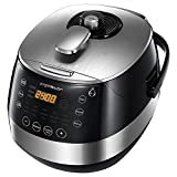 Aigostar Happy Chef 30IWY - Multicuiseur 7 en 1, 900W, 15 fonctions programmables avec grand écran LED incliné,...